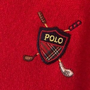 Polo by Ralph Lauren Sweaters - red polo v neck